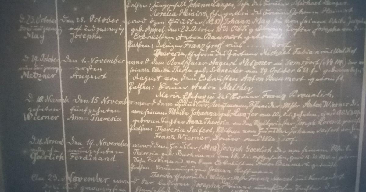 Diözesanarchiv in Oppeln - ein Bild aus dem Mikrofilm